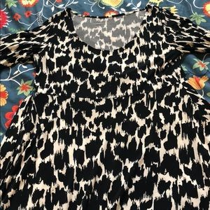 Leota Dresses - Leota Black and White Animal Print Dress Sz M